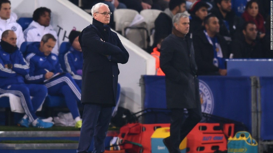 However, near the halfway stage of the 2015-16 campaign, Chelsea was languishing just above the relegation zone following a 2-1 defeat by Leicester -- managed by Claudio Ranieri, who Mourinho replaced at Stamford Bridge in his first spell in 2004.