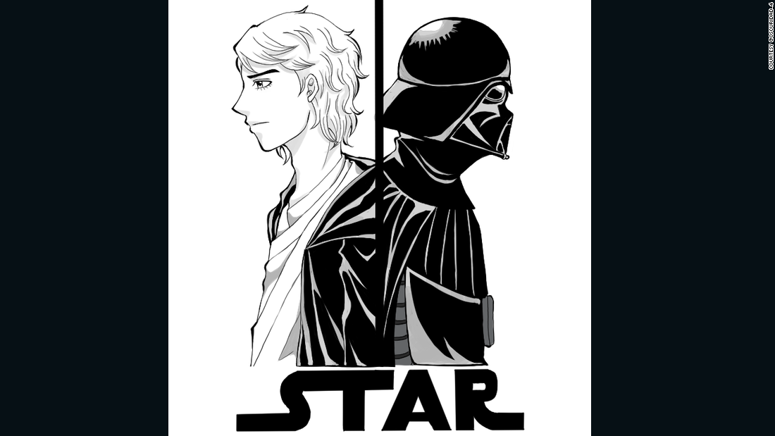 Here is a look at the different sides of Anakin Skywalker (Darth Vader, his alter ego).