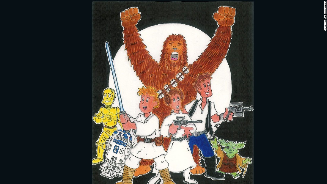 "Jim Brenneman, a longtime cartoonist contributor to CNN iReport, imagined the original heroes of ""Star Wars."""