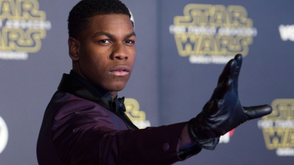 British actor John Boyega, 23, has one of the film's lead roles as Finn, a redeemed stormtrooper.