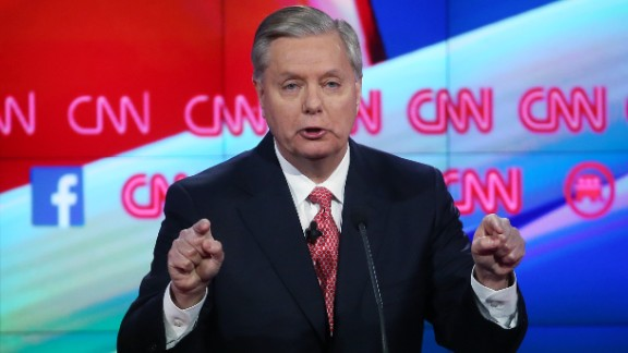 """Graham has served South Carolina in Congress since 1995. He continued his tough talk on the threat of terrorism. """"If I'm President of the United States, and you join ISIL, you are going to get killed or captured,"""" he said. """"And the last thing you are going to hear if I'm President is, 'You've got a right to remain silent.' """""""