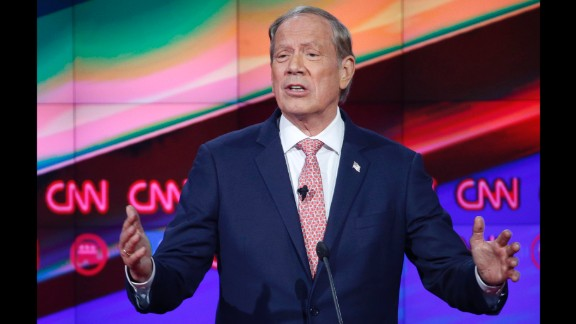 """Pataki was New York governor from 1995 to 2006. """"Our party needs to nominate a strong leader who will unite us as Republicans, but more importantly, unite us as Americans,"""" he said at the beginning of the first debate."""