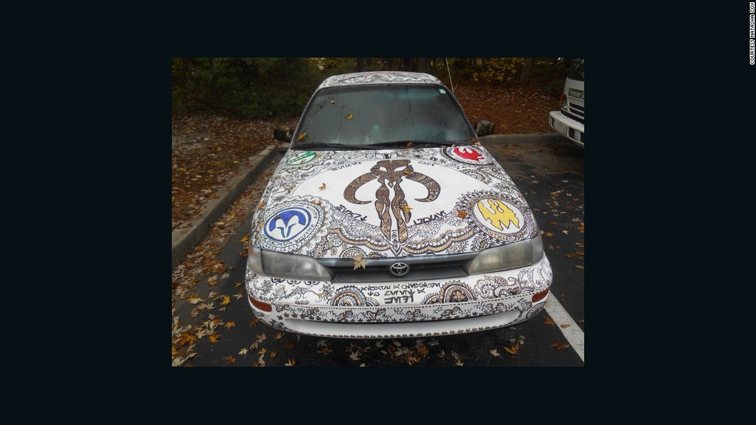 "Fan art isn't always confined to paper or online, as we can see here. This entire car is ""Star Wars""-influenced."