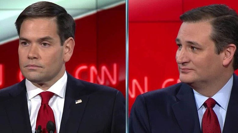 Marco Rubio attacks Ted Cruz's voting record