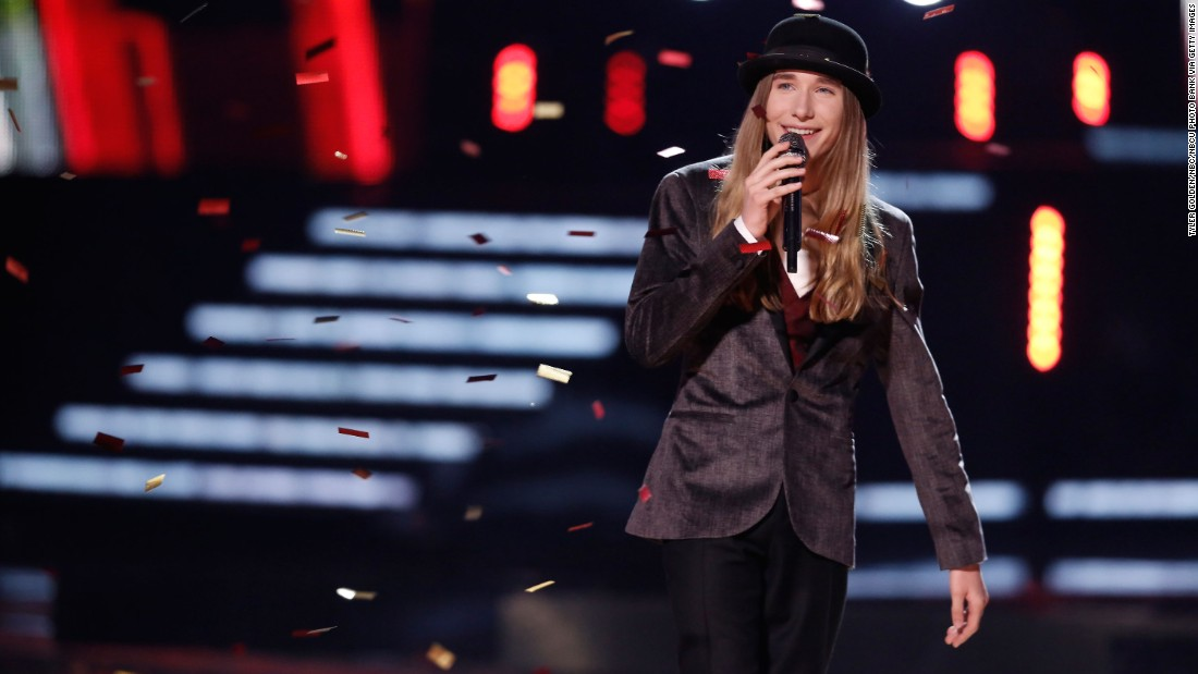 The youngest winner when he took home the crown at age 15, Sawyer Fredericks won season 8. He was coached by singer-songwriter Pharrell Williams.