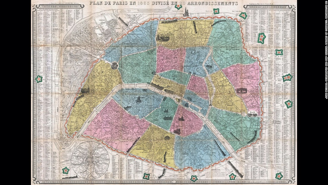 Of Historys Most Revealing Maps CNN Style - Show map of paris arrondissements