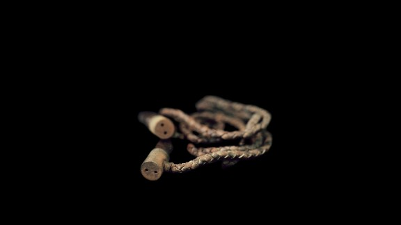 This leather jump rope is from the Great Plains Black History Museum in Omaha, Nebraska. Omaha is where civil rights icon Malcolm X was born.