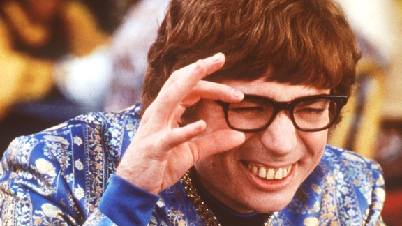 """Mike Myers shows off his winning smile in the 1999 film """"Austin Powers: The Spy Who Shagged Me."""""""