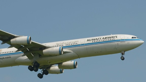 Kuwait Airways says it's not permitted to do business with Israel or Israelis under Kuwaiti law.