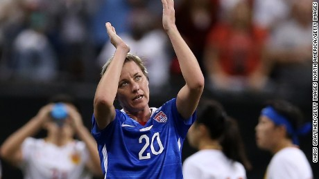 3504350e86e ... Women s World Cup. Show Caption. 46 of 46. Abby Wambach acknowledges  the crowd after making her 255th and final appearance for the U.S. women