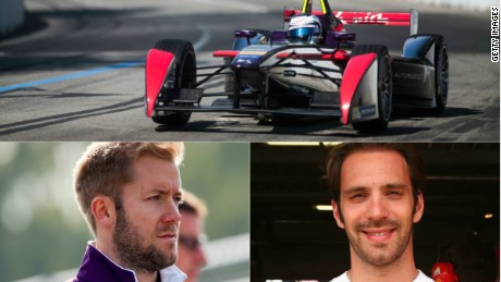 Jean-Eric Vergne (right) has switched from the Andretti team to DS Virgin Racing for the 2015-16 season.