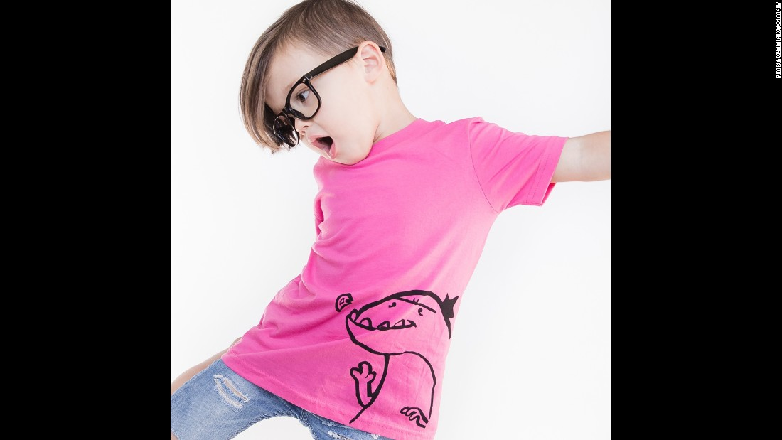 "Pink can go with dinosaurs, as this T-shirt by <a href=""http://www.quirkiekids.com/"" target=""_blank"">Quirkie Kids</a> demonstrates."