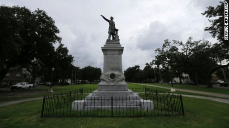 "A monument to Jefferson Davis, President of the Confederacy, is one of four monuments called a ""nuisance"" by the ordinance the New Orleans City Council approved"