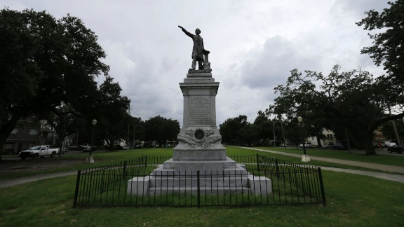 """A monument to Jefferson Davis, President of the Confederacy, is one of four monuments called a """"nuisance"""" by the ordinance the New Orleans City Council approved"""