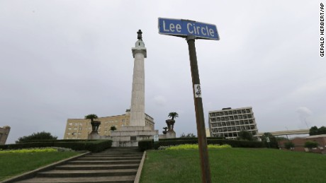 The Robert E. Lee Monument has stood in New Orleans since 1884.