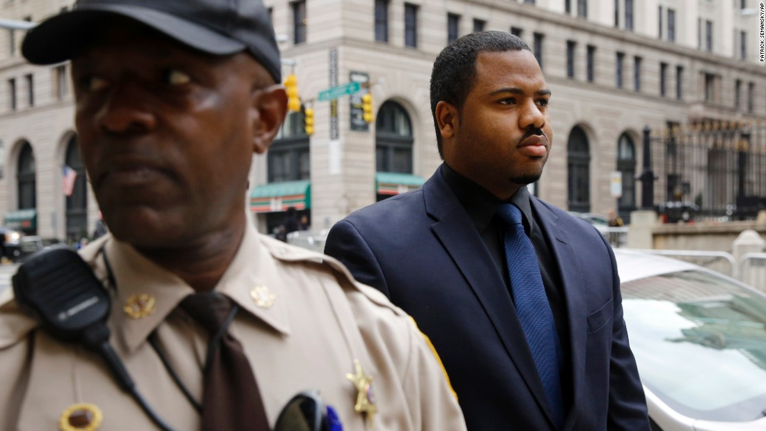 "William Porter, one of six police officers charged in connection with the death of Freddie Gray, walks into a Baltimore courthouse on Wednesday, December 16. <a href=""http://www.cnn.com/2015/12/16/us/gallery/porter-mistrial-baltimore-protests/index.html"" target=""_blank"">A mistrial was declared</a> in Porter's case after jurors remained deadlocked and were unable to reach a unanimous verdict. Gray died in April after sustaining a neck injury while in police custody."