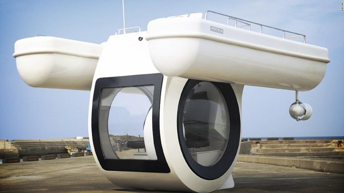 "Here's an idea: The <a href=""http://www.egosubmarine.com/index.htm"" target=""_blank"">EGO Compact </a>is an electric boat with a basement! Sitting in the basement offers you a window underwater."