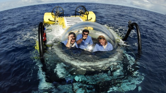 California-based SEAmagine offers several types of personal submersibles that accommodate two to four people. They're designed to dive to depths from 500 feet to 3,300 feet, depending on the model. The base model sells for about $1.2 million.