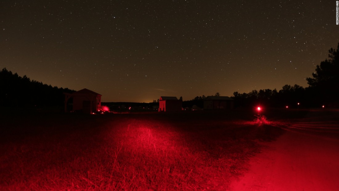 The Deerlick Astronomy Village uses only red lights at night because they doesn't affect the eye's ability to see in darkness the way white light does.