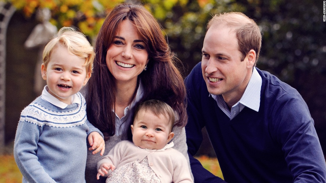 Prince William Kate Middleton And Children In Royal Christmas Photo