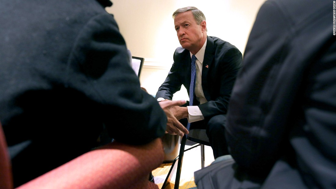 Democratic presidential candidate Martin O'Malley meets with former hunger strikers and their family members during a conference in New York on Monday, December 14. The hunger strikers, Bangladeshi nationals, were trying to raise the issue of immigrant detention in the United States.