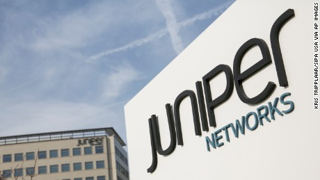 The headquarters of Juniper Networks in Sunnyvale, California, on January 1, 2014.
