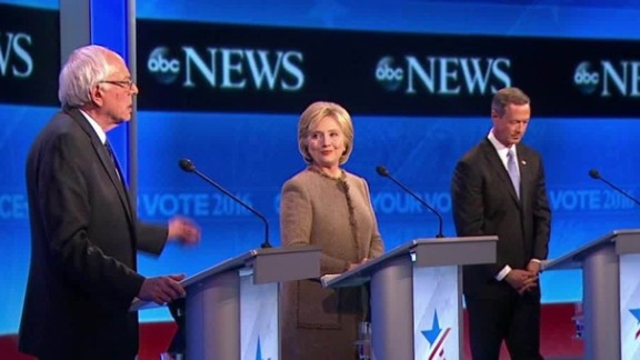 abc news democratic debate clinton sanders omalley  first lady bts_00003914.jpg