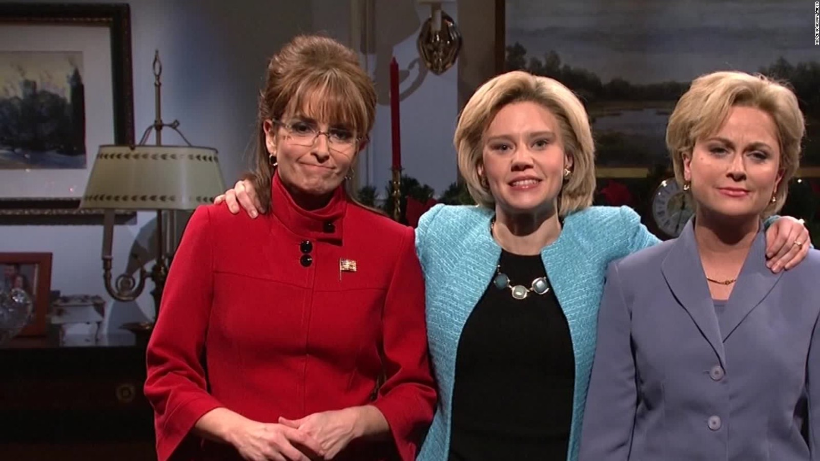 Hillary Clinton Christmas.Snl Hillary Clinton Gets Visitors From The Past