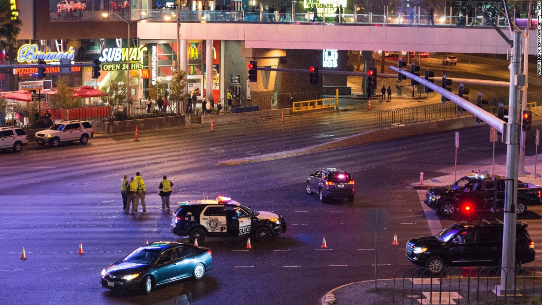 Part of the Las Vegas Strip was closed to traffic after the crash on December 20.