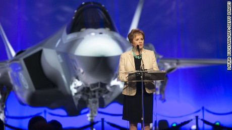 Kay Granger, member of the United States House of Representatives & former Fort Worth Mayor,  speaks at the Norway F-35 rollout celebration at Lockheed Martin in Fort Worth, TX, on Tuesday, Sep. 22, 2015.