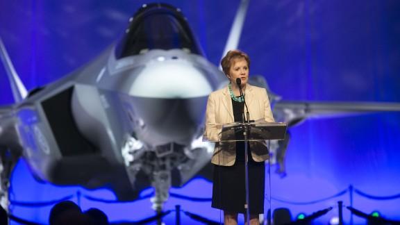 Rep. Kay Granger of Texas speaks at Lockheed Martin in Fort Worth, Texas, in September 2015.