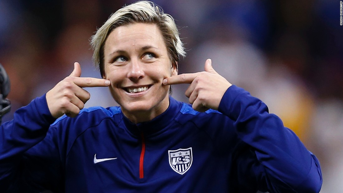 "U.S. forward Abby Wambach shows a smile to the crowd after the team's international friendly soccer match against China in New Orleans on Wednesday, December 16. <a href=""http://www.cnn.com/2015/12/18/opinions/bass-wambach-how-to-end-a-career/index.html"">Wambach retired from international competition after the game. </a>"