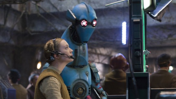 """Thirty-eight years after her mother's debut into the """"Star Wars"""" universe, Billy Lourd stepped into frame as Lieutenant Connix. Lourd, the daughter of Carrie Fisher, even donned a pair of buns in homage to Princess Leia. <br />"""