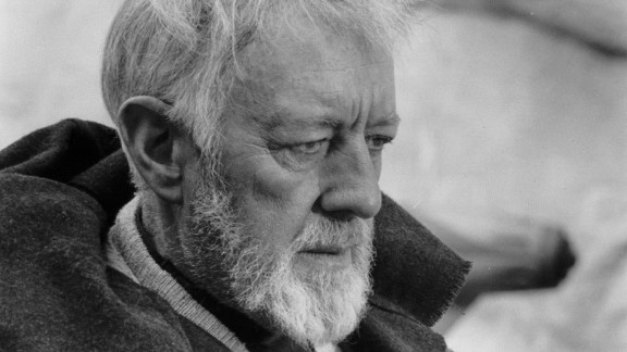 """Through a bit of digital wizardry (or should that be Jedi mind tricks?) the late Alec Guiness is also present in the same line spoken by McGregor. According to <a href=""""http://www.ew.com/article/2015/12/20/jj-abrams-reveals-obi-wan-and-yoda-are-star-wars-force-awakens"""" target=""""_blank"""" target=""""_blank"""">Entertainment Weekly</a> the film's producers surprised Abrams in the edit suite, telling the director that Obi-Wan calling out """"Rey"""" was edited from a recording of Guiness saying """"afraid."""""""