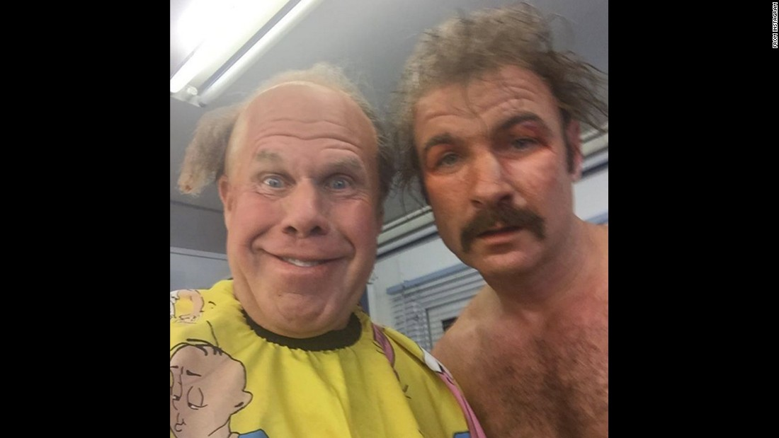 "Ron Perlman, left, and Liev Schreiber take a selfie in costume on Wednesday, December 16. ""The future of American Cinema, Part II,"" <a href=""https://www.instagram.com/p/_XPDcwInqr/"" target=""_blank"">he wrote on Instagram.</a>"