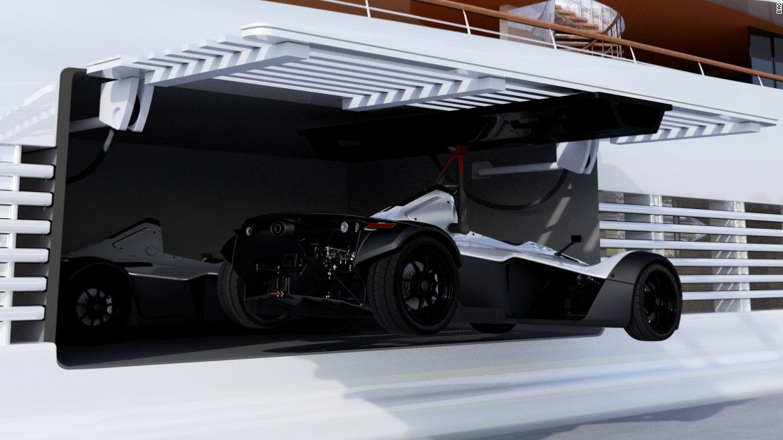 The Mono Marine Edition is the brainchild of Briggs Automotive Company (BAC) and the artist's impression is based on its original Mono model -- a single-seater racing car built for the public road -- but tailored to ensure it can ride onboard the world's most opulent vessels.