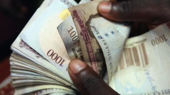 Nigerian Naira,(NGN) being counted  in an exchange office in Lagos, Nigeria. Dan Kitwood/Getty Images