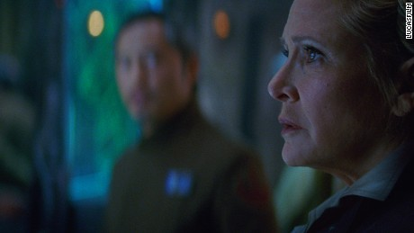 "Leia (Carrie Fisher) is no longer a 'Princess, going by 'General' in ""The Force Awakens."""