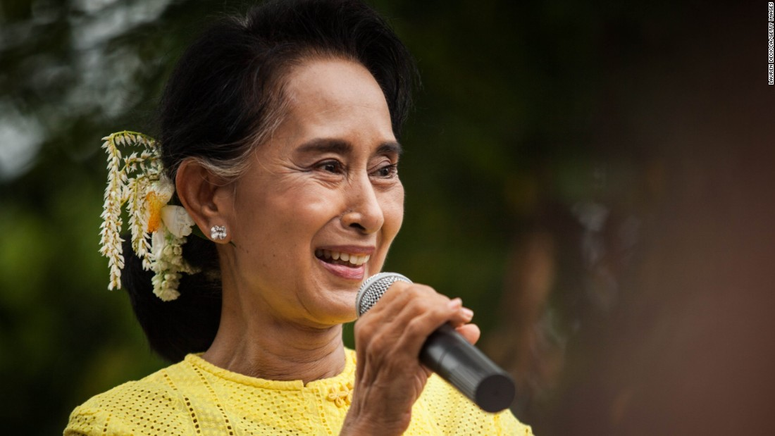Aung San Suu Kyi, leader of Myanmar's National League for Democracy Party, endured a long struggle against the ruthless military rulers to win election.