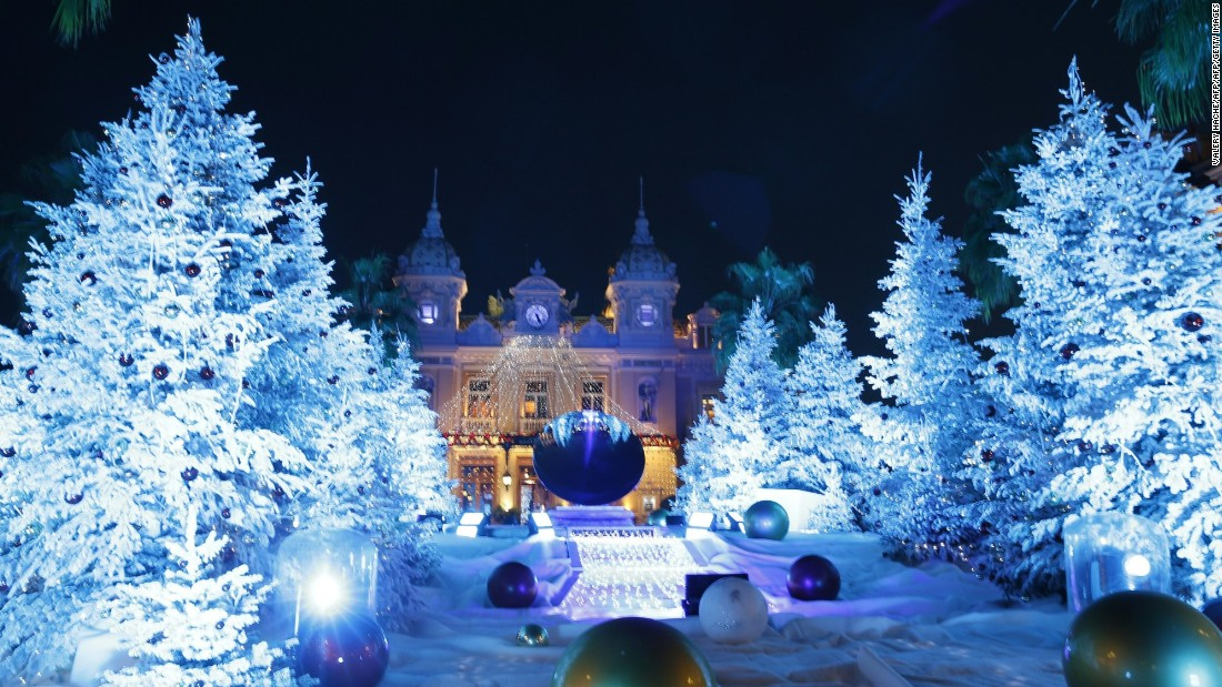 You'd expect the Monte-Carlo Casino in Monaco to deliver some Christmas sparkle. And you would not be disappointed.