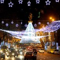 Christmas lights 2015 Tbilisi