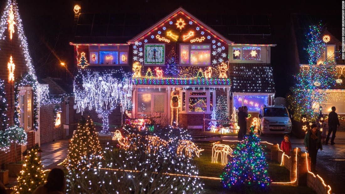 Each year a number of houses in Trinity Close in Burnham-on-Sea put on a display of thousands of festive lights. The displays raise tens of thousands of pounds for various charities and are lit every night until January 5.