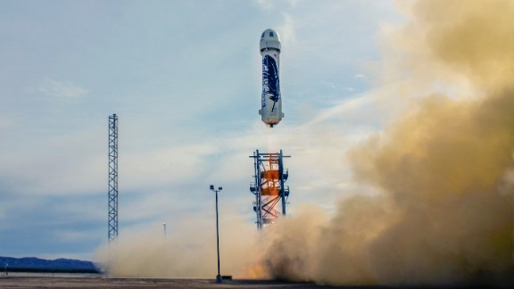 <strong>Blue Origin  </strong><br />Jeff Bezos, billionaire founder of Amazon.com, has had a long fascination with space. He founded a private aerospace company in 2000 aimed more at the suborbital tourist market. The New Shepard capsule, which successfully landed on November 24, 2015, is designed to travel about 100 kilometers (about 62 miles) above the surface of the Earth and land safely.