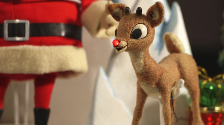 rudolph the red nosed reindeer rescued from attic - Rudolph And Santa