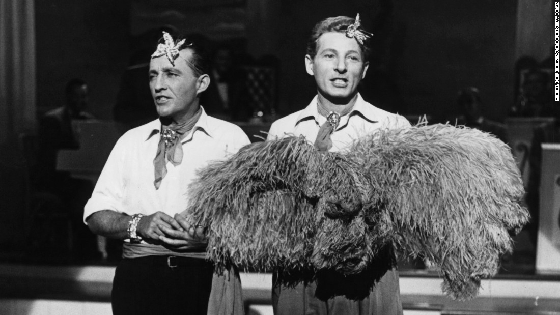 bing crosby left and danny kaye perform as singers bob wallace and phil davis - How Old Was Bing Crosby In White Christmas