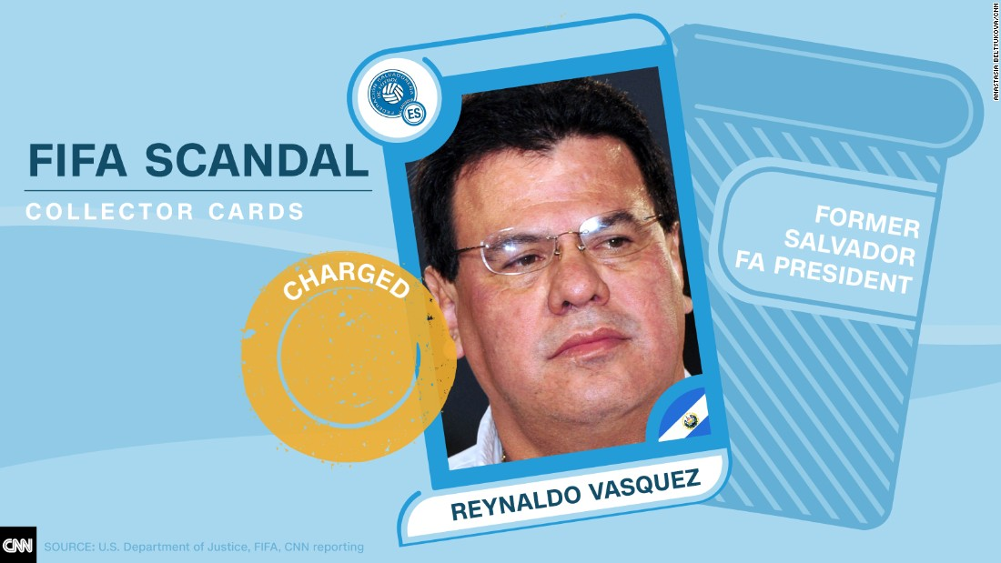 FIFA scandal collector cards Vasquez