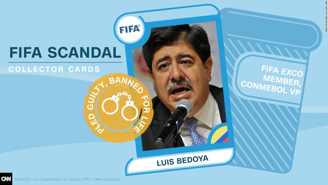 FIFA scandal collector cards Bedoya