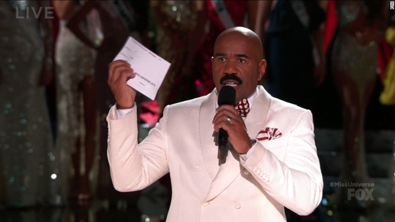 Miss Colombia confronts Steve Harvey