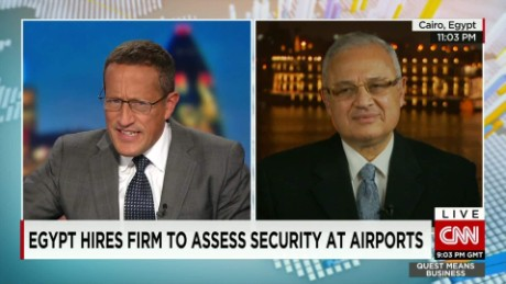 exp Hisham Zaazou, Egyptian tourism minister, discusses airport security  _00002001