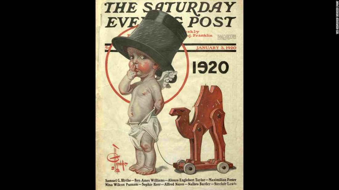 in 1920 the saturday evening post published an illustration of a baby in a top photos new years baby